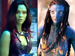 Zoe Saldana in various colours