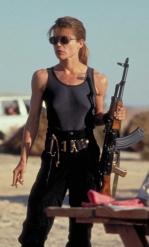 Linda Hamilton of Terminator 2