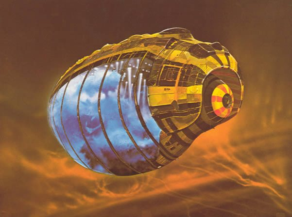 chris foss Spice Container, design for Dune, 1975.